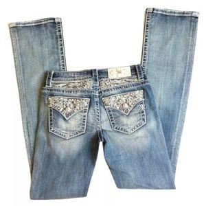 Miss Me Signature Slim Boot Embellished Pockets